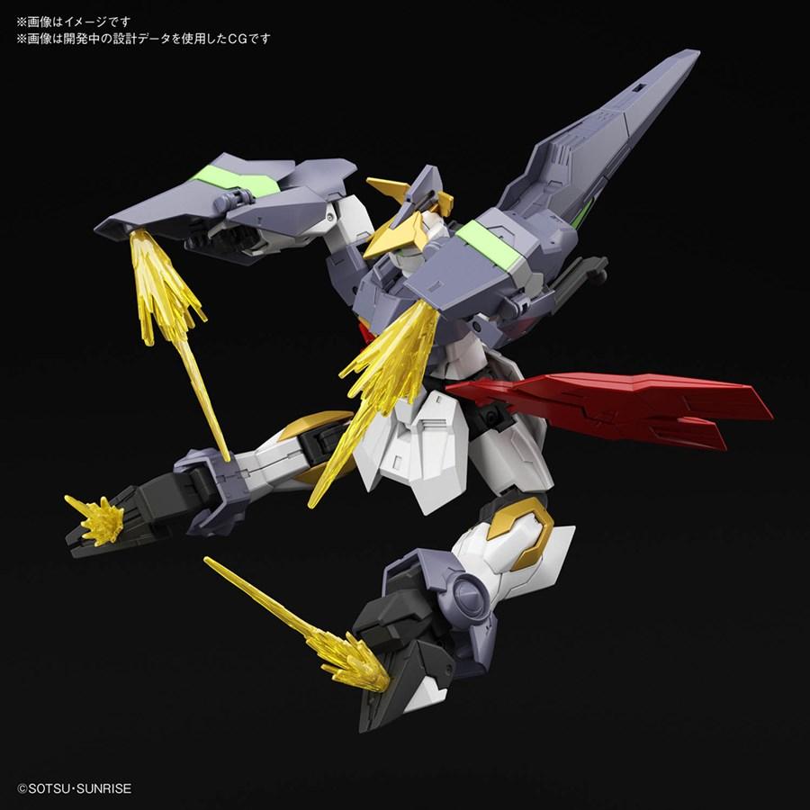 HGBD R Gundam Aegis Knight với hiệu ứng lazer gắn thêm vào tay và chân