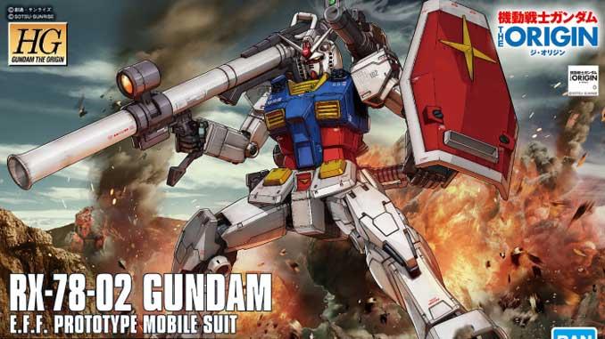Khui hộp HG RX-78-02 Gundam (The Origin) 1