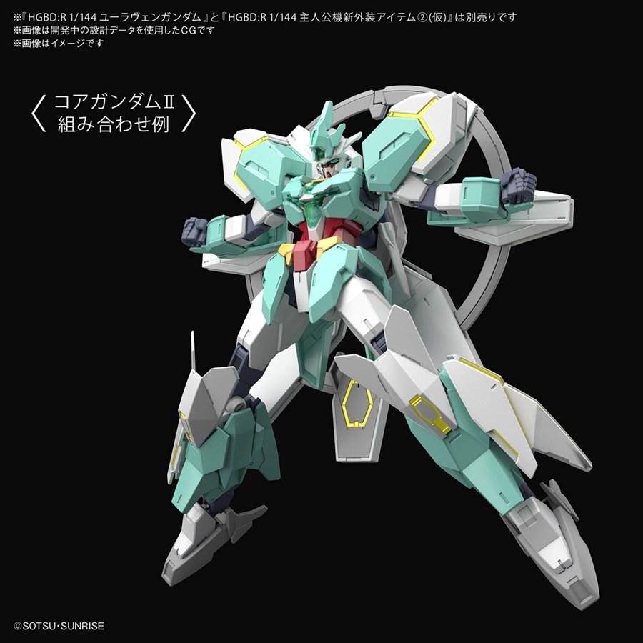 HGBD:R 1/144 Protagonist's Unit's New Armor Weapon 2 gắn lên Gundam core II