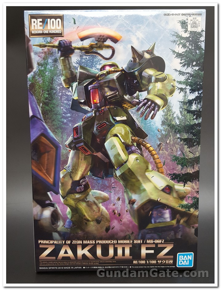 hộp Zaku II Kai mặt trước