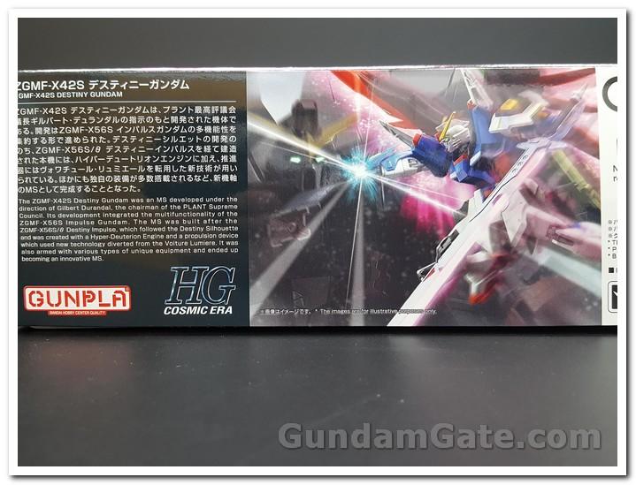 Giới thiệu bằng 2 thứ  tiếng Anh-Nhật về HGCE Destiny Gundam