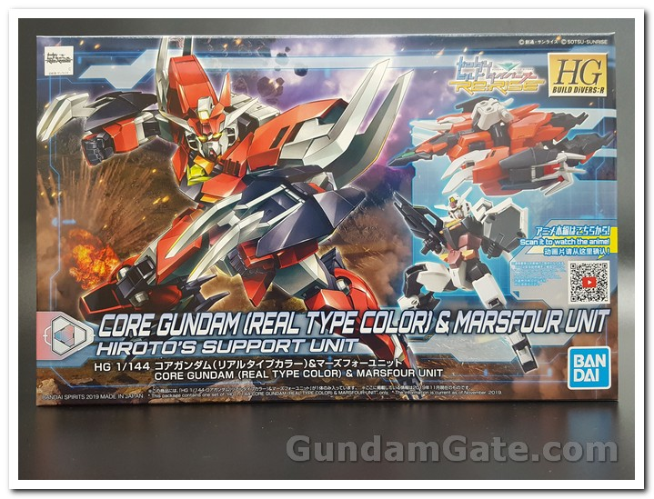 Hộp  HG Core Gundam (Real Type Color) & Marsfour