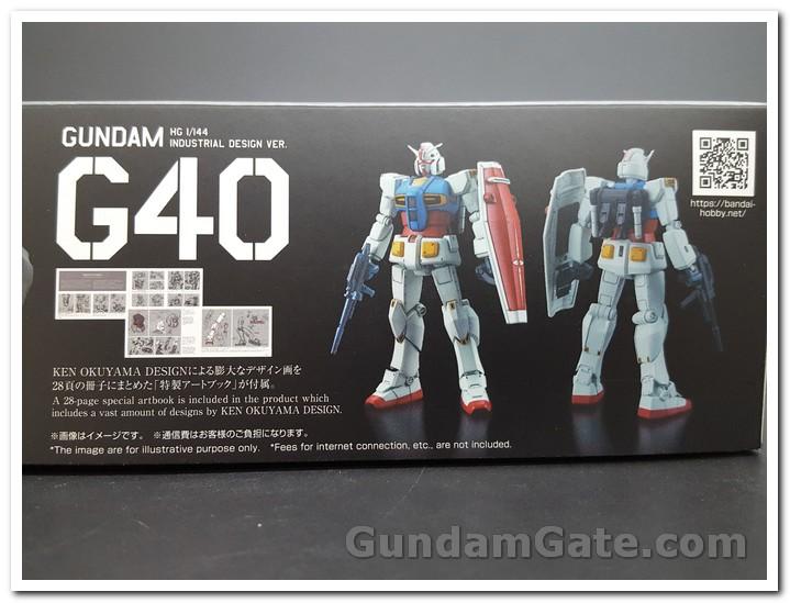 mặt hông hộp HG Gundam G40 Industrial Design