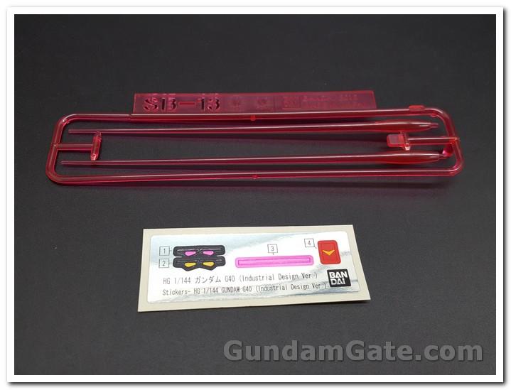 đề can dán HG Gundam G40 Industrial Design