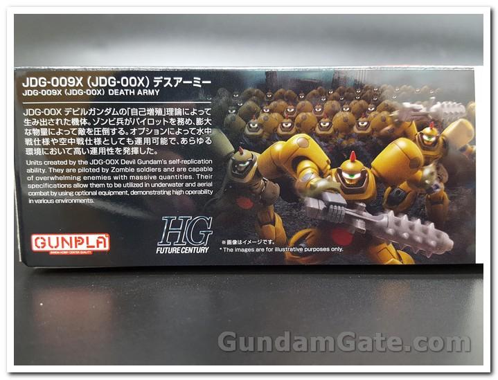 Thông tin Death Army trên bìa hộp