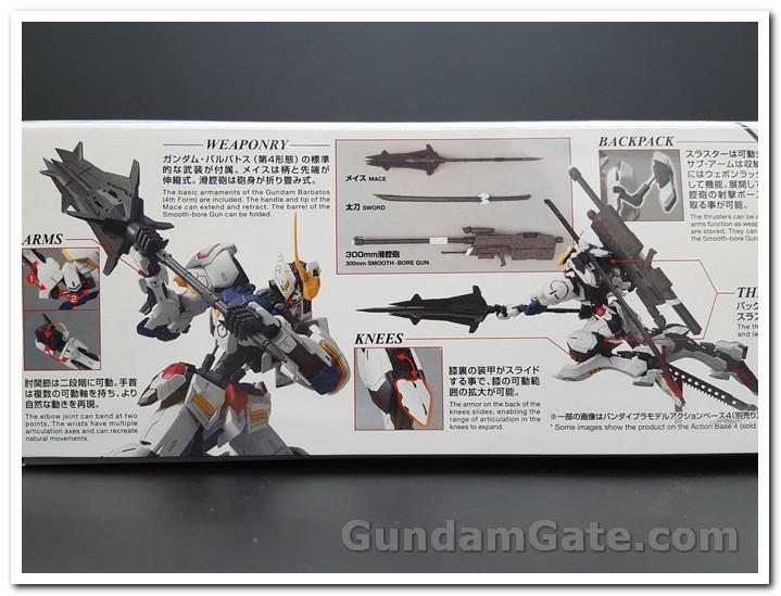 mặt hông hộp MG Gundam Barbatos
