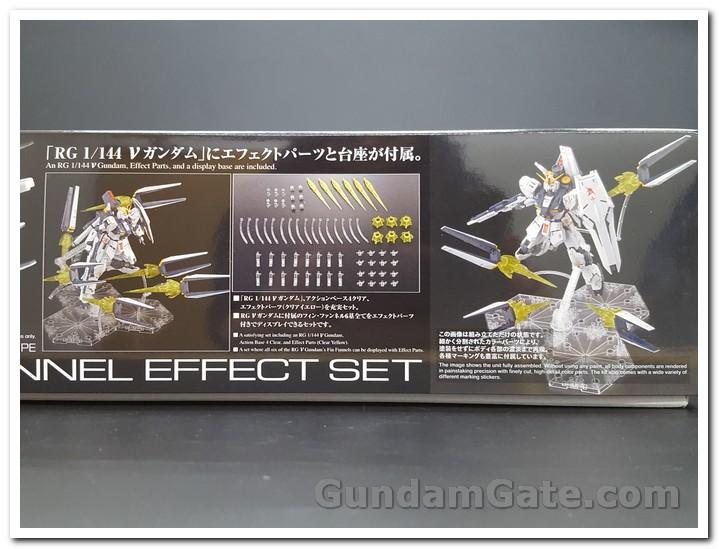 rất nhiều hiệu ứng trên hộp RG Nu Gundam Fin Funnel Effect
