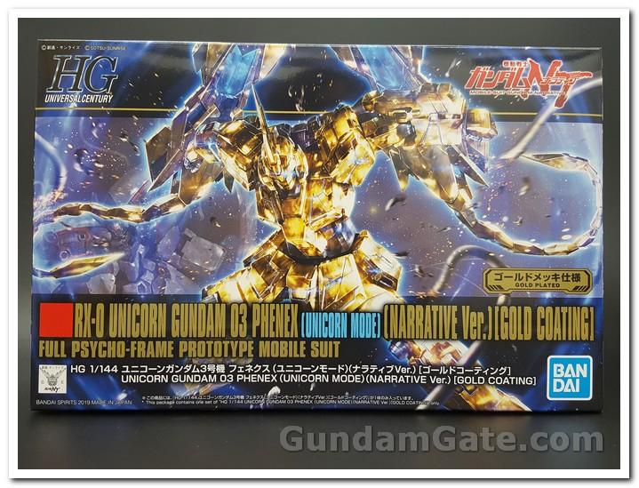 hộp HGUC Unicorn Gundam Unit 3 Fenex mạ vàng