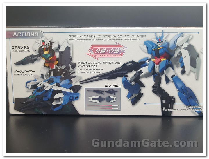 HDBD-R Earthree Gundam box mặt hông