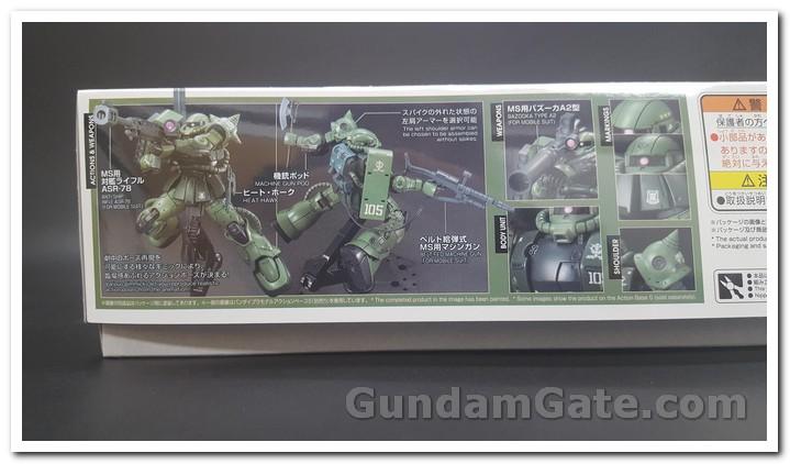 HG Zaku II Type C6-R6 có gì trong hộp ? 3