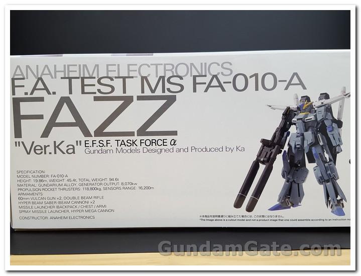 Mặt hông hộp MG FAZZ với các thông số kỹ thuật
