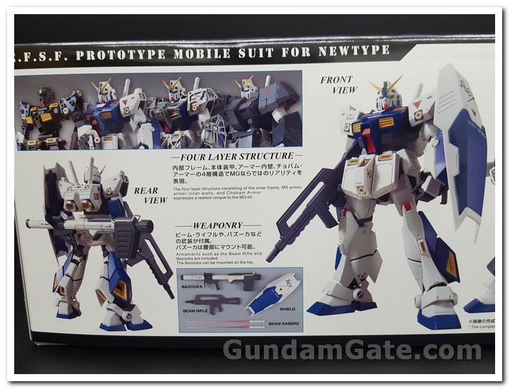 mặt trước và sau của Gundam NT-1