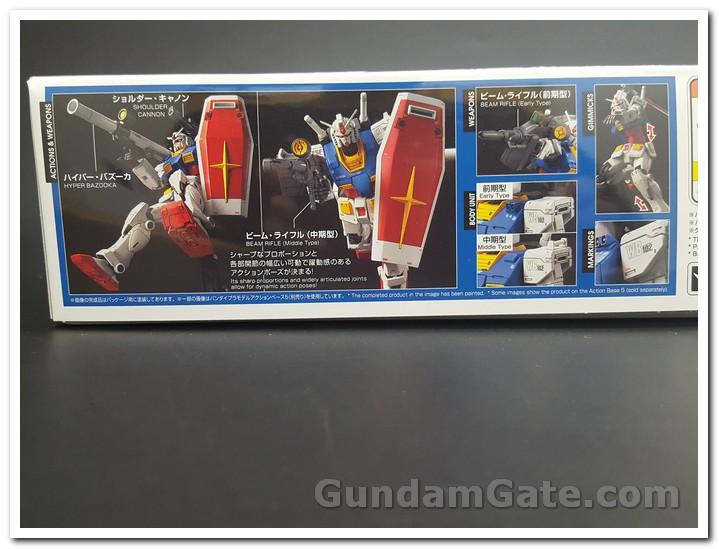 Mặt hông của hộp HG RX-78-02 Gundam