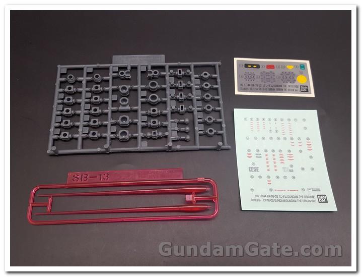 HG RX-78-02 Gundam sticker và các part clear