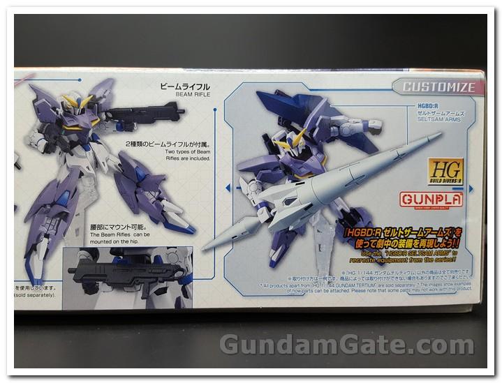 HGBD:R Gundam Tertium kết hợp cánh tay Seltsam