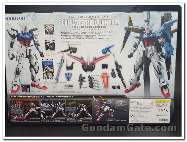 Gundam PG Perfect Strike mặt sau box