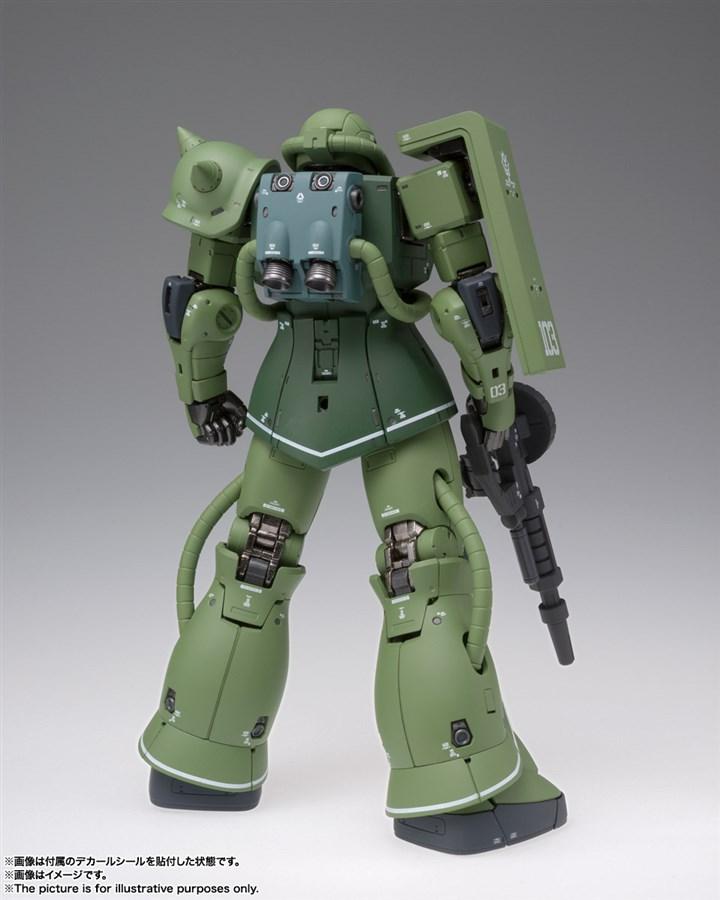 GUNDAM MS-06C Zaku II Type C bản Metal Build mặt sau