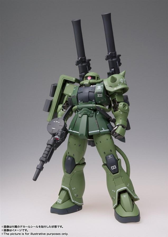 GUNDAM MS-06C Zaku II Type C bản Metal Build full set vũ khí