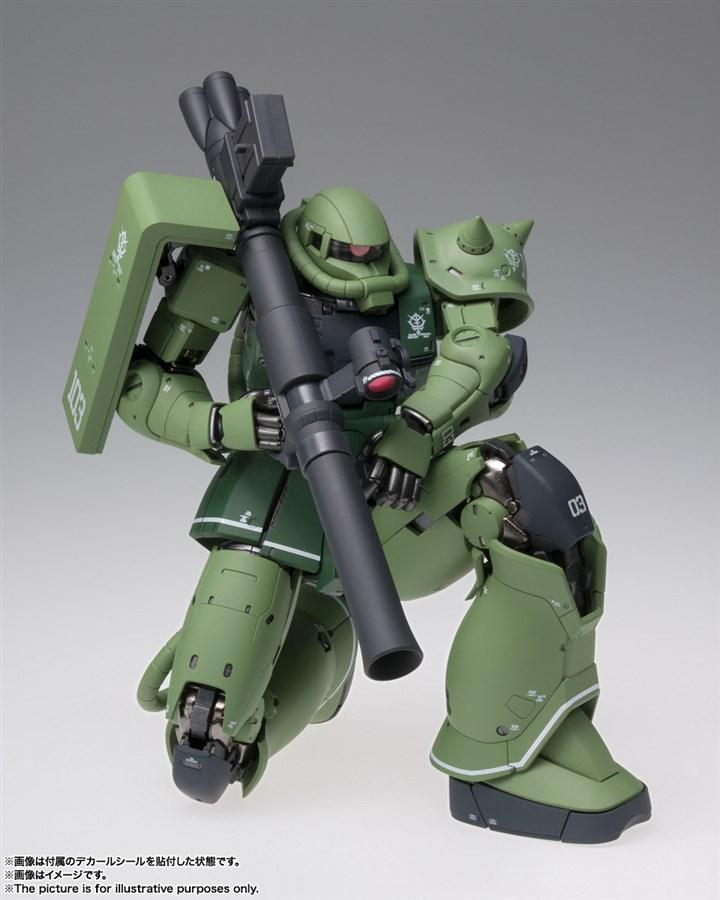GUNDAM MS-06C Zaku II Type C bản Metal Build có khớp gối gập hơi 90 độ
