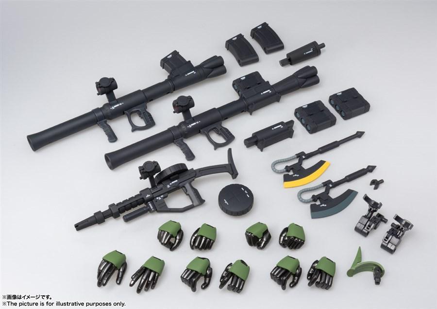 các vũ khí của Zaku II và bộ tay thay thế