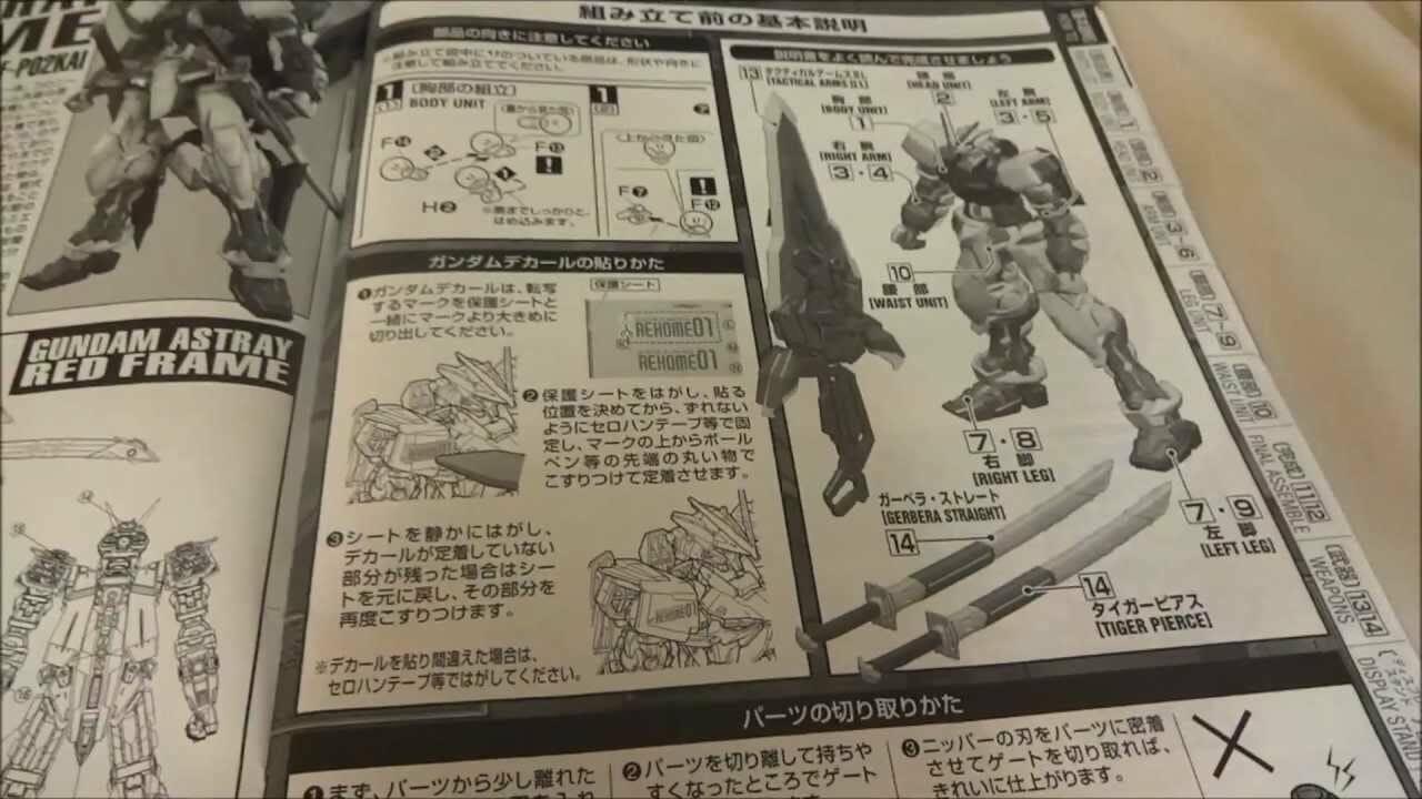 Gundam mô hình - tài liệu hướng dẫn lắp ráp gundam