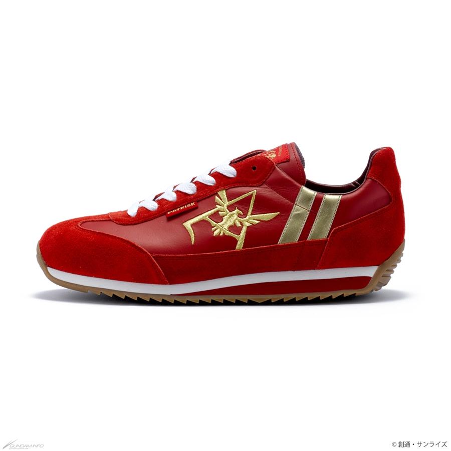 mẫu giày gundam sneaker phe Red Comet với logo đại bàng