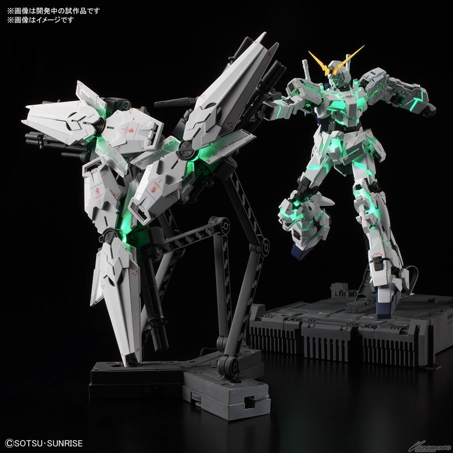 Khiêng của MGEX 1/100 Unicorn Gundam có thể phát sáng độc lập