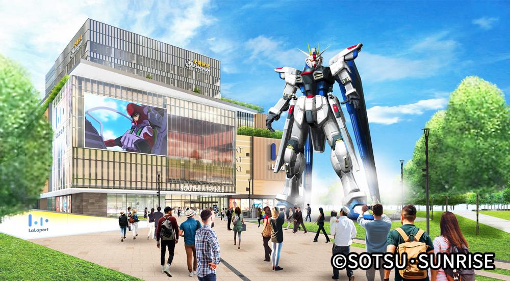 phối cảnh tượng Gundam Freedom